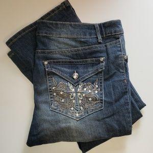 Mudd bootcut Jeans with rhinestone embellishments
